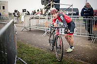Timon Ruegg (SUI) post-race<br /> <br /> Elite Men's Race<br /> UCI cyclocross WorldCup - Koksijde (Belgium)<br /> <br /> ©kramon