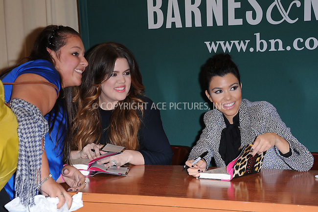"WWW.ACEPIXS.COM . . . . . .November 16, 2011...New York City....Khloe Kardashian and Kourtney Kardashian sign copies of ""Dollhouse"" at Barnes & Noble, 5th Avenue on November 16, 2011 in New York City....Please byline: KRISTIN CALLAHAN - ACEPIXS.COM.. . . . . . ..Ace Pictures, Inc: ..tel: (212) 243 8787 or (646) 769 0430..e-mail: info@acepixs.com..web: http://www.acepixs.com ."
