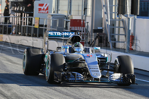 01.03.2016. Barcelona, Spain.  Formula 1 winter car testing at Circuit de Barcelona Catalunya Test 2 Day 1.  Mercedes AMG Petronas W07 Hybrid – Nico Rosberg