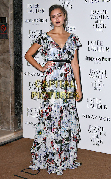LONDON, ENGLAND - OCT 31: Ella Purnell at Harper's Bazaar annual Women of the Year Awards, which celebrates female high-fliers, at Claridge's on October 31st, 2016 in London, England.<br /> CAP/JOR<br /> &copy;JOR/Capital Pictures