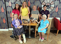 Top row L-R Tracy Hiscock, Liz Stickler from Tesco, Debby Roose, care home manager and Sue Johnson. Front row L-R Sylvia Williams and Constance Skinner