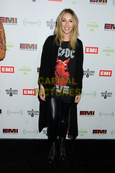 Alison Wonderland.EMI Music 2012 Grammy Awards Party held at Capital Records Tower, Hollywood, California, USA..February 12th, 2012.full length black acdc top leather trousers jacket .CAP/ADM/BP.©Byron Purvis/AdMedia/Capital Pictures.