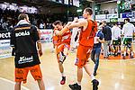 S&ouml;dert&auml;lje 2014-01-03 Basket Basketligan S&ouml;dert&auml;lje Kings - Bor&aring;s Basket :  <br /> Bor&aring;s Wictor Grenthe och Bor&aring;s Mike Palm jublar efter matchen <br /> (Foto: Kenta J&ouml;nsson) Nyckelord:  jubel gl&auml;dje lycka glad happy