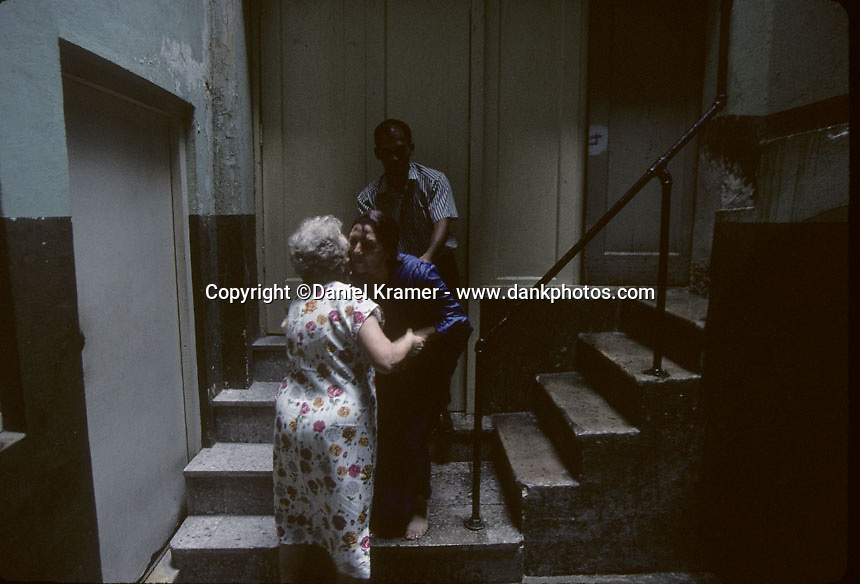 Baptism in a church in Havana in 1998.