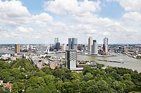 Nederland Rotterdam 2016 . Rotterdam gezien vanaf de Euromast.  Foto Berlinda van Dam / Hollandse Hoogte