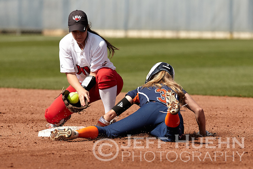 SAN ANTONIO, TX - FEBRUARY 21 2015: The University of the Incarnate Word Cardinals falls to the University of Texas at San Antonio Roadrunners 13-1 at Roadrunner Field. (Photo by Jeff Huehn)