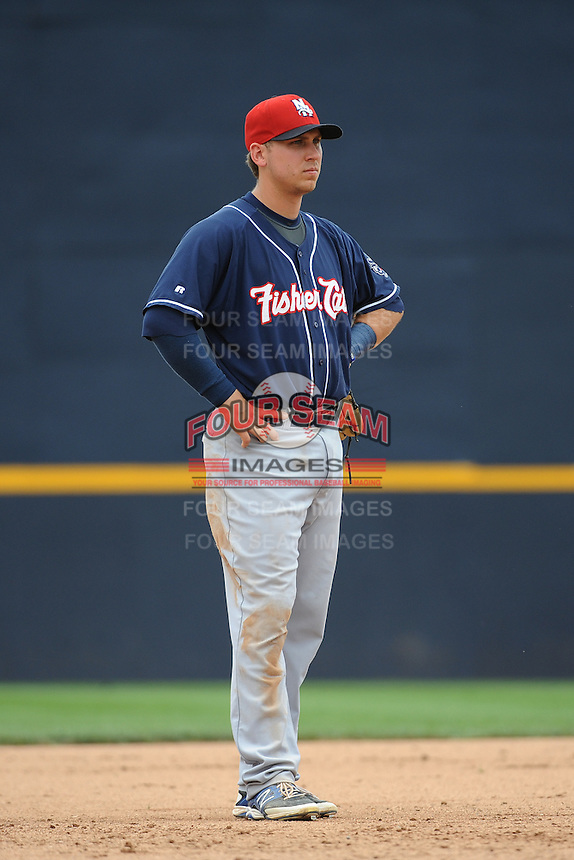 New Hampshire Fisher Cats infielder Andy Burns (11) during game against the Trenton Thunder at ARM & HAMMER Park on June 22, 2014 in Trenton, NJ.  New Hampshire defeated Trenton 7-2.  (Tomasso DeRosa/Four Seam Images)