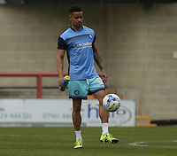 Paris Cowan-Hall of Wycombe Wanderers<br /> warms up ahead of the Sky Bet League 2 match between Morecambe and Wycombe Wanderers at the Globe Arena, Morecambe, England on 29 April 2017. Photo by Stephen Gaunt / PRiME Media Images.