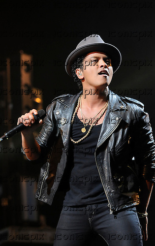 BRUNO MARS - performing live at the BBC Radio 1 Big Weekend held in Ebrington Square Londonderry Northern Ireland UK - 26 May 2013.  Photo credit: George Chin/IconciPix