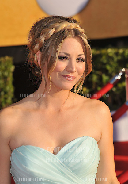Kaley Cuocco at the 17th Annual Screen Actors Guild Awards at the Shrine Auditorium, Los Angeles..January 29, 2012  Los Angeles, CA.Picture: Paul Smith / Featureflash