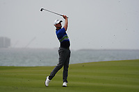 Alexander Bjork (SWE) on the 9th during Round 1 of the Oman Open 2020 at the Al Mouj Golf Club, Muscat, Oman . 27/02/2020<br /> Picture: Golffile   Thos Caffrey<br /> <br /> <br /> All photo usage must carry mandatory copyright credit (© Golffile   Thos Caffrey)