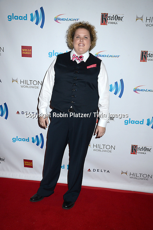 Fortune Feimster attends the 25th Annual GLAAD Media Awards at the Waldorf Astoria Hotel in New York City, NY on May 3, 2014.