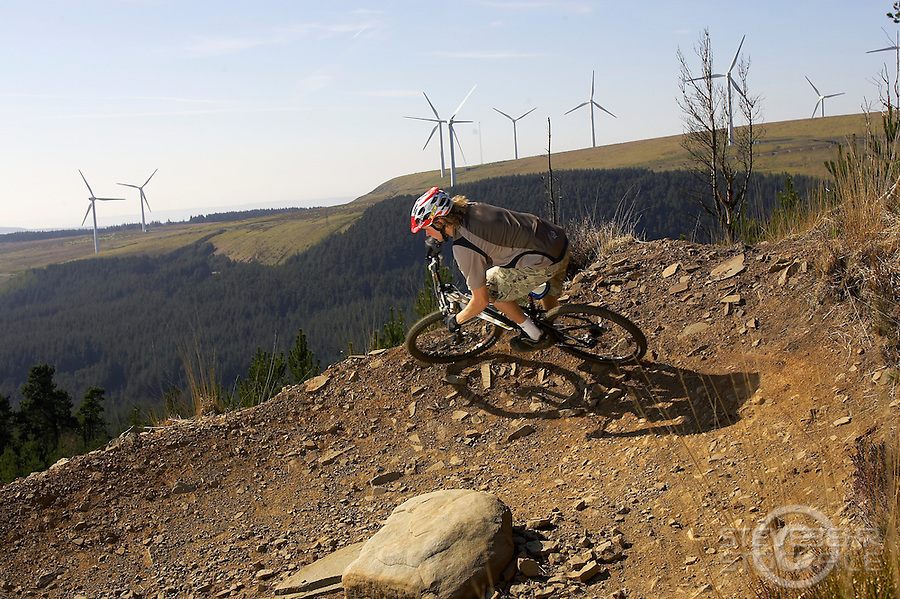 Dave Wardell ..Whytes Level trail ..Afan Argoed , Wales    April 2007..pic copyright Steve Behr / Stockfile