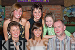 21ST: Grainne Murphy, Boolteens, Castlemaine (seated 4th from left) celebrates her 21st birthday with her family and friends in Murphys Bar, Boolteens, last Friday night..