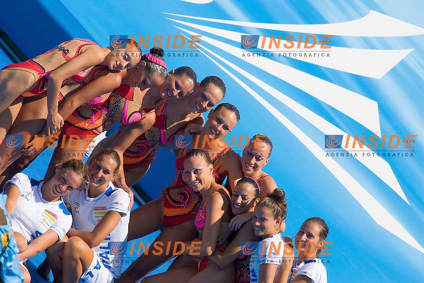 Roma 25th July 2009 - 13th Fina World Championships From 17th to 2nd August 2009.TEAM FREE ROUTINE.ITA Italy.BIGI Alessia 17 DEC 1987.BOZZO Elisa 8 MAY 1987.CATTANEO Camilla 12 FEB 1990.FIORENTINI Costanza 25 NOV 1984.FLAMINI Manila 18 SEP 1987.PERRUPATO Mariangela 15 SEP 1988.RE Benedetta 15 FEB 1989.SGARZI Sara 27 MAY 1986.BELLARIA Federica 21 OCT 1989 Reserve.SCHIESARO Dalila 2 AUG 1987 Reservephoto: Roma2009.com/InsideFoto/SeaSee.com