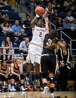 Afure Jemerigbe of California shoots the ball during the game against Long Beach State at Haas Pavilion in Berkeley, California on November 8th, 2013.  California defeated Long Beach State, 70-51.