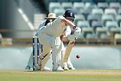 November 4th 2017, WACA Ground, Perth Australia; International cricket tour, Western Australia versus England, day 1; Gary Balance plays a forward defensive shot during his innings