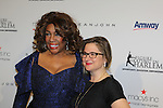 Host Mary Wilson of the Supremes poses with Sharon Cohen at The 11th Annual Skating with the Stars Gala - a benefit gala for Figure Skating in Harlem hosted by Mary Wilson of the Supremes on April 11, 2016 on Park Avenue in New York City, New York with many Olympic Skaters and Celebrities. (Photo by Sue Coflin/Max Photos)