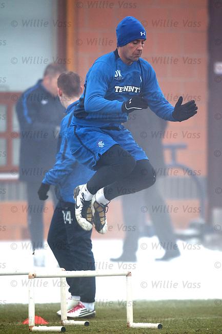 David Weir flying in training