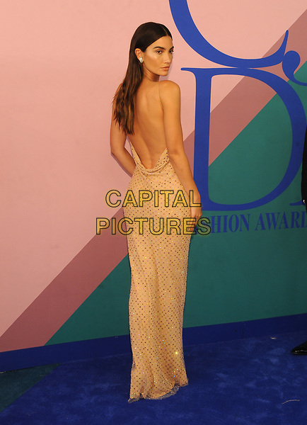 NEW YORK, NY - JUNE 5: Lily Aldridge at the 2017 CFDA Fashion Awards at The Hammerstein Ballroom in New York City on June 5, 2017. <br /> CAP/MPI/JP<br /> &copy;JP/MPI/Capital Pictures