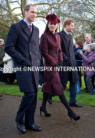 "KATE'S 1ST CHRISTMAS AT SANDRINGHAM.Catherine, Duchess of Cambridge joined members of the Royal Family for her first Christmas at Sandringham, Norfolk..She attended Christmas Day Service together with other members of the Roayal Familt a St. Mary Magdalene Church, Sandringham_25/12/2011.Mandatory Credit Photo: ©Catherine Souto/NEWSPIX INTERNATIONAL..Please telephone : +441279324672 for usage fees..**ALL FEES PAYABLE TO: ""NEWSPIX INTERNATIONAL""**..IMMEDIATE CONFIRMATION OF USAGE REQUIRED:.Newspix International, 31 Chinnery Hill, Bishop's Stortford, ENGLAND CM23 3PS.Tel:+441279 324672  ; Fax: +441279656877.Mobile:  07775681153.e-mail: info@newspixinternational.co.uk"