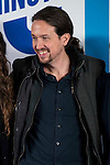"The leader of Podemos, Pablo Iglesias during the main event of the XV Aniversary of the ""20Minutos"" newspaper at Headquarters of the Community of Madrid, November 24, 2015<br /> (ALTERPHOTOS/BorjaB.Hojas)"