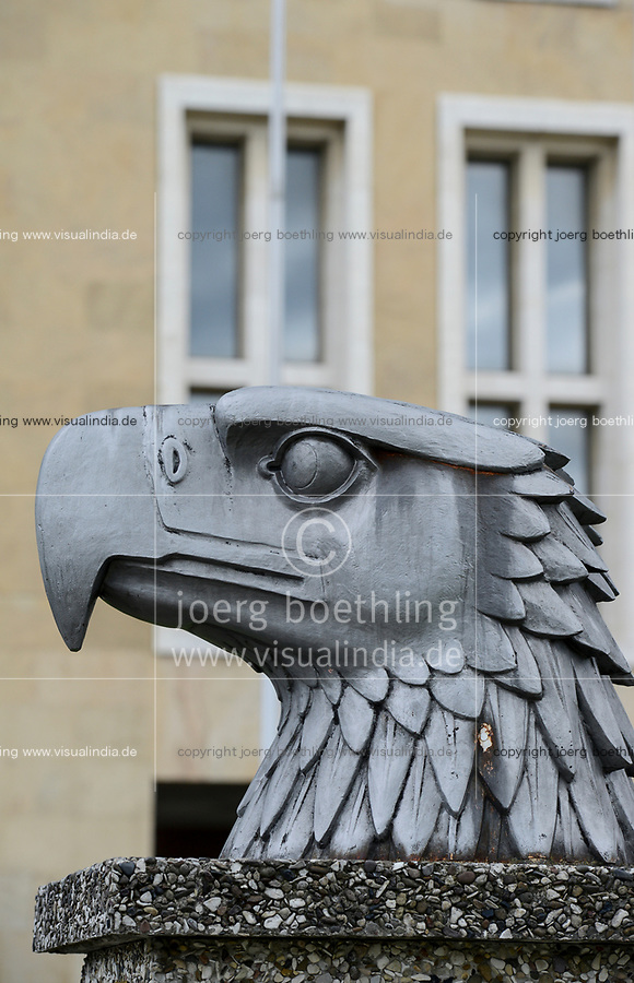 GERMANY, Berlin, airport Tempelhof built during Nazi Germany, eagle head