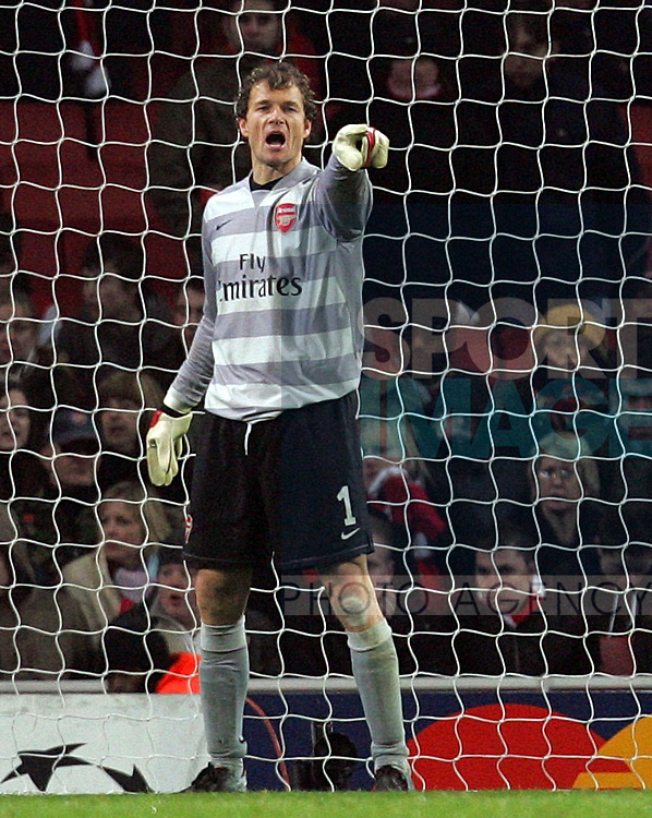 Arsenal's Jens Lehmann during their UEFA Champions League, Group H football match, at the Emirates Stadium, London, 12th December 2007.