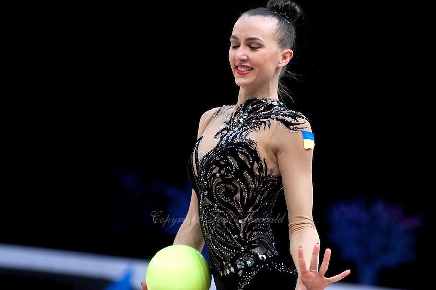 February 28, 2016 - Espoo, Finland - ANNA RIZATDINOVA of Ukraine performs in EF at Espoo World Cup 2016.