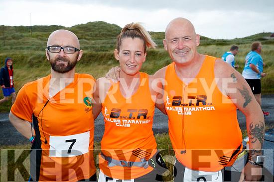 Martin O'Sullivan, Cindy O'Shea and Danny O'Shea, Tralee pictured at the Banna 10K run on Sunday morning.