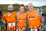 Martin O'Sullivan, Cindy O'Shea and Danny O'Shea, Tralee pictured at the Banna 10K run on Sunday morning.