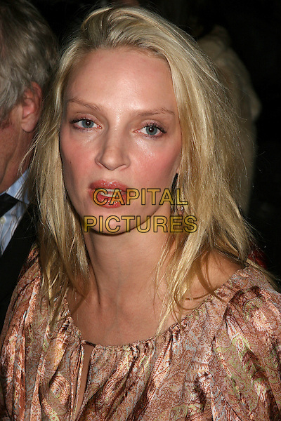 09 february 2006 New York NY - Olympus Fashion Week Fall 2006 - Zac posen frontrow - The Tents, Bryant Park..Uma Thurman