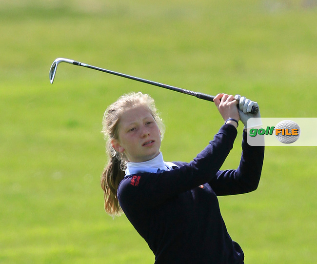 Chiara Vikkula (BEL) on the 18th fairway during Round 3 of The Irish Girls Open Strokeplay Championship in Roganstown Golf Club on Sunday 19th April 2015.<br /> Picture:  Thos Caffrey / www.golffile.ie
