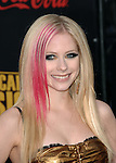 Avril Lavigne arrives at the 2007 American Music Awards held at the Nokia Theatre Los  Angeles, Ca. November 18, 2007.  Fitzroy Barrett