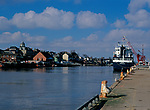 A728P9 Shipping River Yare Great Yarmouth Norfolk England