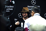 October 18, 2012, Tokyo, Japan - A designer Motonori Ono is interviewed by medias during Mercedes-Benz Fashion Week Tokyo 2013 Spring/Summer. The Mercedes-Benz Fashion Week Tokyo runs from October 13-20. (Photo by Yumeto Yamazaki/AFLO)