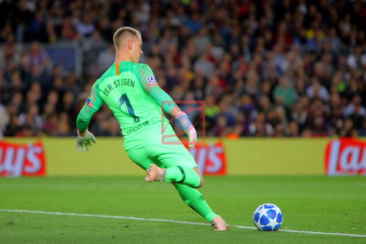UEFA Champions League 2018/2019 - Matchday 3.<br /> FC Barcelona vs FC Internazionale Milano: 2-0.<br /> Marc-Andre Ter Stegen.