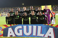 BOGOTA -COLOMBIA. 30-09-2016. Formación del Atlético Nacional ante La Equidad . Acción de juego entre La Equidad y Atlético Nacional  durante encuentro  por la fecha 15 de la Liga Aguila II 2016 disputado en el estadio Metropolitano de Techo./ Team of Atletico Nacional agaisnt Equidad.Action game between Equidad and Atletico Nacional   during match for the date 15 of the Aguila League II 2016 played at Metropolitano stadium . Photo:VizzorImage / Felipe Caicedo  / Staff