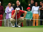 Anthony Wall (ENG) lines up his putt on the par3 8th green during Day 1 of the BMW International Open at Golf Club Munchen Eichenried, Germany, 23rd June 2011 (Photo Eoin Clarke/www.golffile.ie)