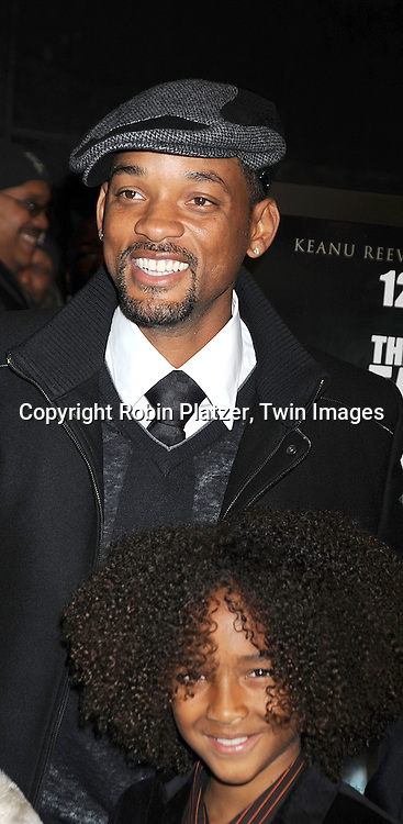 "Will Smith and Jaden Smith..at The New York Premiere of ""The Day the Earth Stood Still"" on December 9, 2008 at the AMC Loews Lincoln Square. Keanu Reeves, Jennifer Connelly, Kathy Bates, ..Jaden Smith and Jon Hamm are in the movie....Robin Platzer, Twin Images"