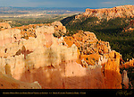 Sunrise Point Fins and Paria River Valley at Sunset, Bryce Canyon National Park, Utah