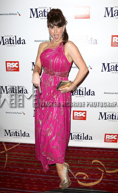 Lesli Margherita attending the Broadway Opening Night Performance After Party for 'Matilda The Musical' at the Marriott Marquis Hotel in New York City on 4/11/2013