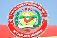 Logo del Partido Reformista Social Cristiano.Ciudad: Santo Domingo.Fotos:  Carmen Suárez/acento.com.do.Fecha: 14/06/2011.