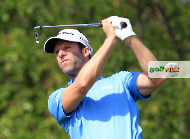 Bradley Dredge (WAL) on the 6th tee during Round 1 of the D+D Real Czech Masters at the Albatross Golf Resort on Thursday 27th August 2015.<br /> Picture:  Thos Caffrey / www.golffile.ie