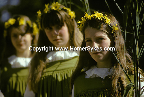 Grasmere Rush Bearing Ceremony. Cumbria Lake District UK 1974,