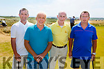 Ring of Kerry GC, l to r: Cyril O'Donoghue, Pat Dwyer, Joe Harrington and Dermot Murphy at the JB O'Shea Golf Tournament in the Ballybunion Golf clubs Cashen Course on Saturday.