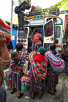 Panajachel, Guatemala, October 2005. Life under the Volcano. Several indian communities live in the villages lining the shore of Lake Atitlan.  Guatemala is a colorful country with mix of many ancient Indian civilisations and Spanish colonial occupation. Photo by Frits Meyst/Adventure4ever.com