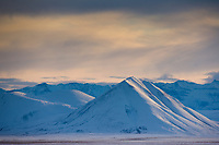 Winter landscape of the Philip Smith Mountains of the Brooks Range, Arctic Alaska