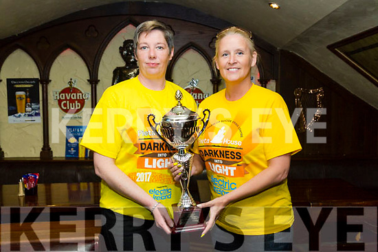 St Patrick's Day Parade prizes presentation at the Abbey Inn on Monday. Marilyn O'Shea and Ann Leahy O'Shea from 'Darkness into Light' winners of the the Most Current and Topical