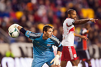 New England Revolution goalkeeper Bobby Shuttleworth (22). The New York Red Bulls defeated the New England Revolution 4-1 during a Major League Soccer (MLS) match at Red Bull Arena in Harrison, NJ, on March 20, 2013.